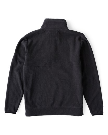 1 Boundary Mock Half Zip Pullover Fleece Black M640QBBM Billabong