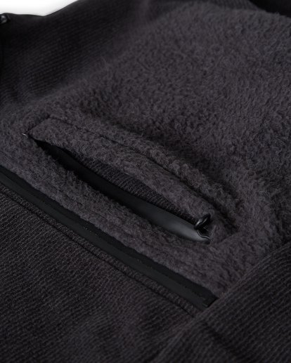 4 Boundary Mock Half Zip Pullover Fleece Black M640QBBM Billabong