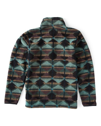 1 Boundary Mock Half Zip Pullover Fleece Green M640QBBM Billabong