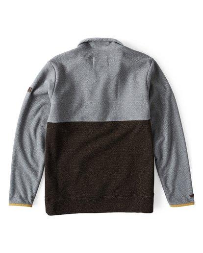 1 Boundary Mock Half Zip Pullover Fleece Grey M640QBBM Billabong