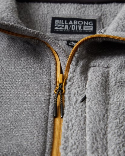 7 Boundary Mock Half Zip Pullover Fleece Grey M640QBBM Billabong