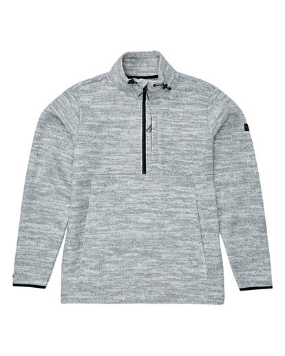 4 Boundary Mock Half Zip Pullover Fleece Grey M640QBBM Billabong