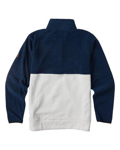 1 Boundary Mock Half Zip Pullover Fleece Blue M640QBBM Billabong