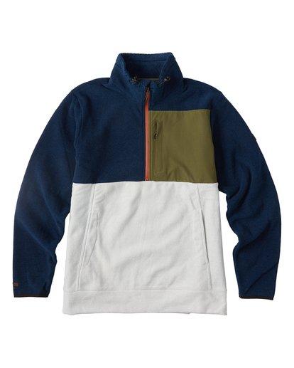 0 Boundary Mock Half Zip Pullover Fleece Blue M640QBBM Billabong