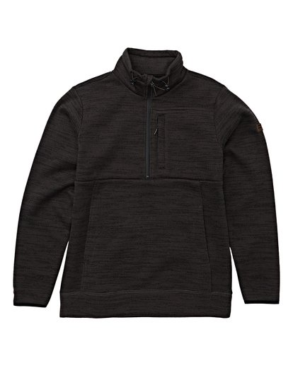 5 Boundary Mock Half Zip Pullover Fleece White M640QBBM Billabong
