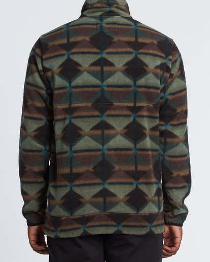 2 Boundary Mock Half Zip Pullover Fleece Green M640QBBM Billabong
