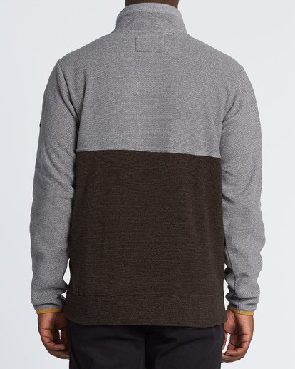 2 Boundary Mock Half Zip Pullover Fleece Grey M640QBBM Billabong