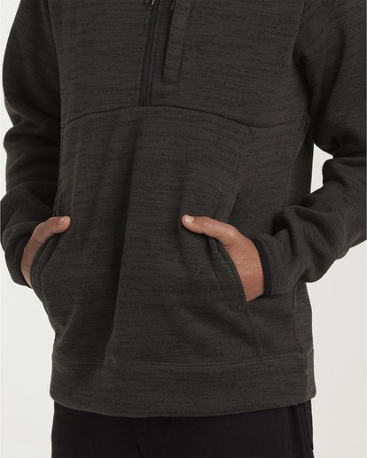 3 Boundary Mock Half Zip Pullover Fleece White M640QBBM Billabong