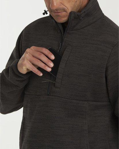 4 Boundary Mock Half Zip Pullover Fleece White M640QBBM Billabong