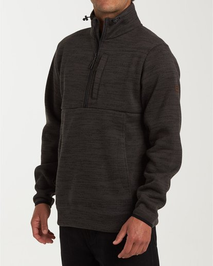1 Boundary Mock Half Zip Pullover Fleece White M640QBBM Billabong