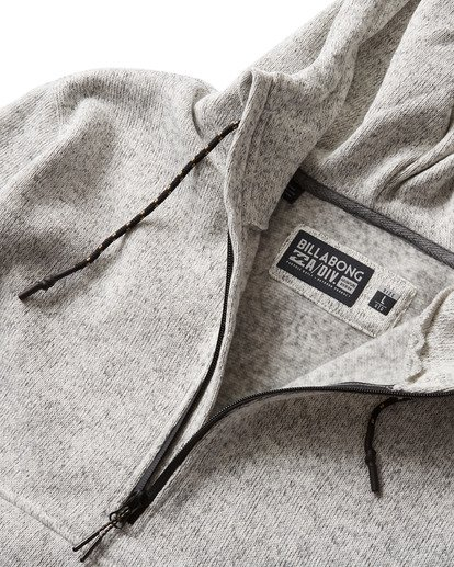 7 Boundary Pullover Hoodie Grey M640QBBO Billabong