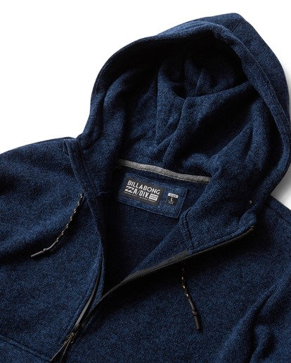 1 Boundary Fleece Hoodie Blue M640QBBO Billabong
