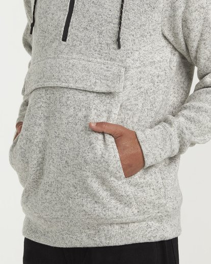 3 Boundary Pullover Hoodie Grey M640QBBO Billabong
