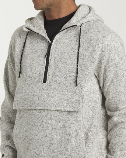 4 Boundary Pullover Hoodie Grey M640QBBO Billabong