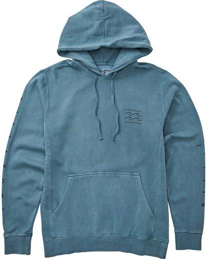 0 Wave Washed Logo Pullover Hoodie Blue M640QBWE Billabong