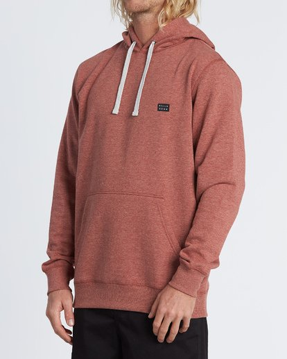 1 All Day Pullover Hoodie Red M640VBAP Billabong