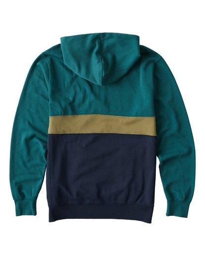 1 Wave Washed Half Zip Sweatshirt Green M640VBWH Billabong