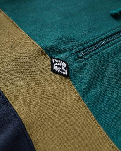 2 Wave Washed Half Zip Sweatshirt Green M640VBWH Billabong