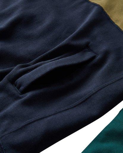 3 Wave Washed Half Zip Sweatshirt Green M640VBWH Billabong