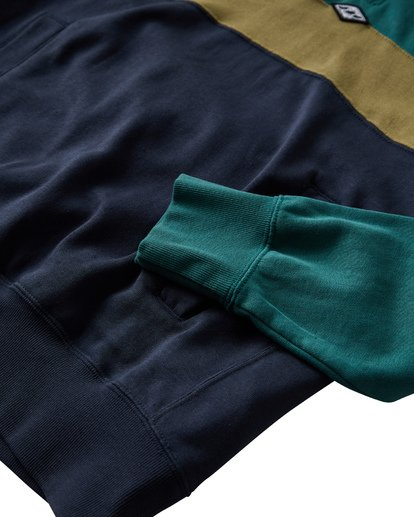 4 Wave Washed Half Zip Sweatshirt Green M640VBWH Billabong