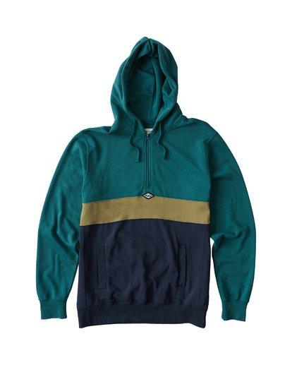0 Wave Washed Half Zip Sweatshirt Green M640VBWH Billabong