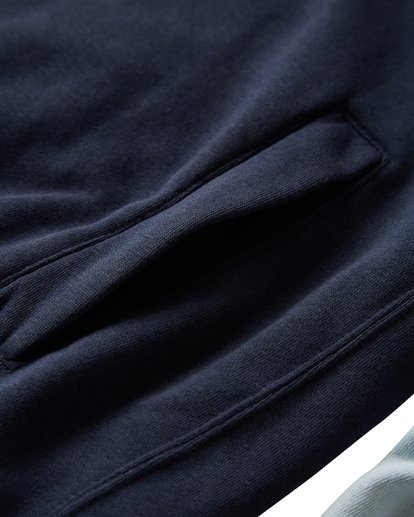 3 Wave Washed Half Zip Sweatshirt Blue M640VBWH Billabong