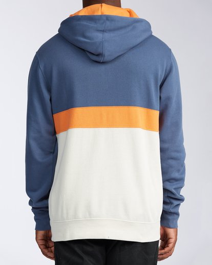 2 Wave Washed Half Zip Sweatshirt Blue M640VBWH Billabong