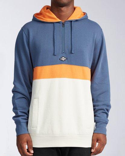 0 Wave Washed Half Zip Sweatshirt Blue M640VBWH Billabong