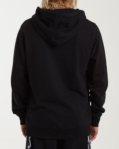 2 Wave Washed Panel Pullover Hoodie Black M640WBWH Billabong