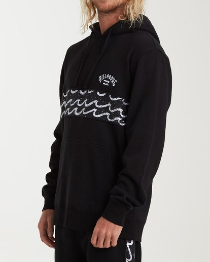1 Wave Washed Panel Pullover Hoodie Black M640WBWH Billabong