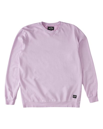 3 Essentials Crew Sweatshirt Purple M642WBEC Billabong