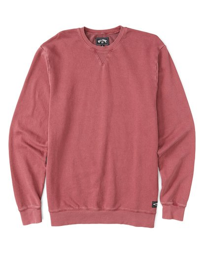 3 Essentials Crew Sweatshirt Red M642WBEC Billabong