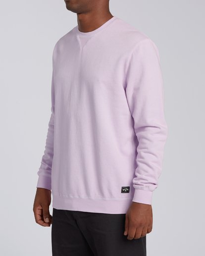 1 Essentials Crew Sweatshirt Purple M642WBEC Billabong