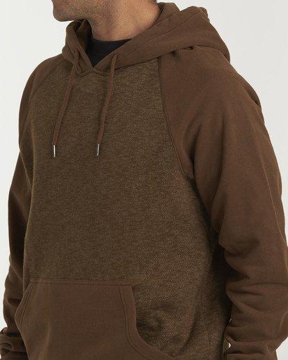 4 Balance Pullover Hoodie Brown M645VBBP Billabong