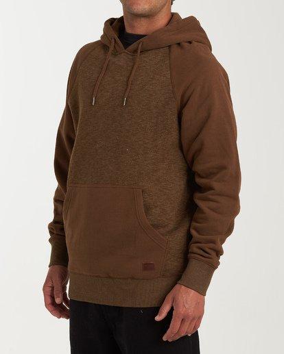 1 Balance Pullover Hoodie Brown M645VBBP Billabong