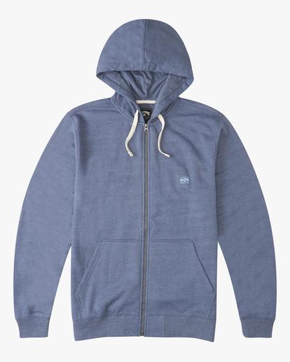 4 All Day Zip Hoodie Blue M6603BAZ Billabong