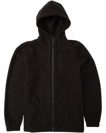 6 Boundary Zip Sherpa Hoodie Black M6603BBM Billabong