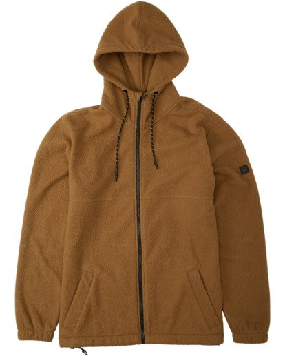 6 A/Div Boundary Zip Sherpa Hoodie Brown M6603BBM Billabong