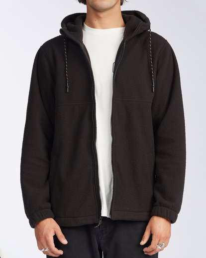 5 Boundary Zip Sherpa Hoodie Black M6603BBM Billabong