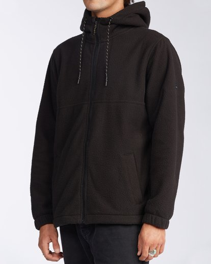 1 Boundary Zip Sherpa Hoodie Black M6603BBM Billabong