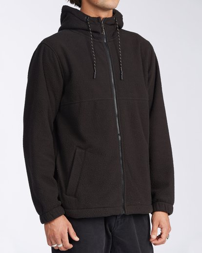 2 Boundary Zip Sherpa Hoodie Black M6603BBM Billabong