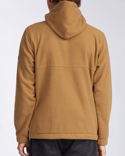 3 A/Div Boundary Zip Sherpa Hoodie Brown M6603BBM Billabong
