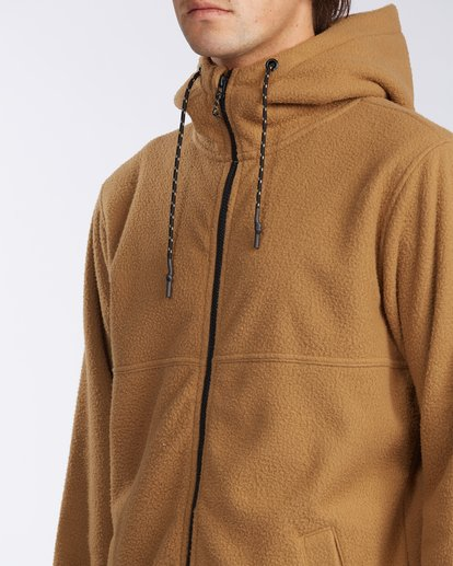4 A/Div Boundary Zip Sherpa Hoodie Brown M6603BBM Billabong