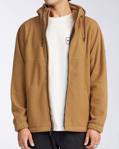 5 A/Div Boundary Zip Sherpa Hoodie Brown M6603BBM Billabong