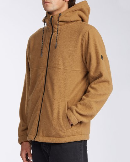 1 A/Div Boundary Zip Sherpa Hoodie Brown M6603BBM Billabong