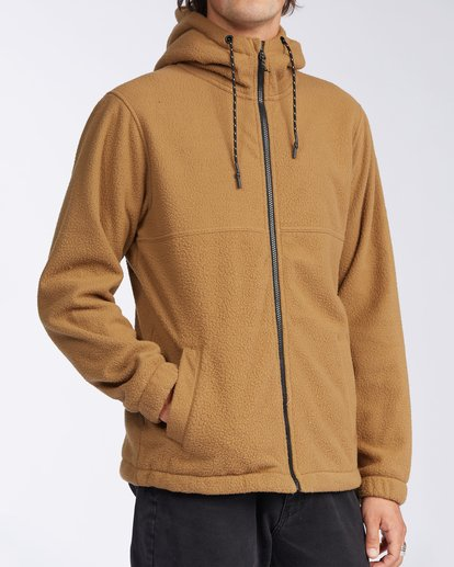 2 A/Div Boundary Zip Sherpa Hoodie Brown M6603BBM Billabong