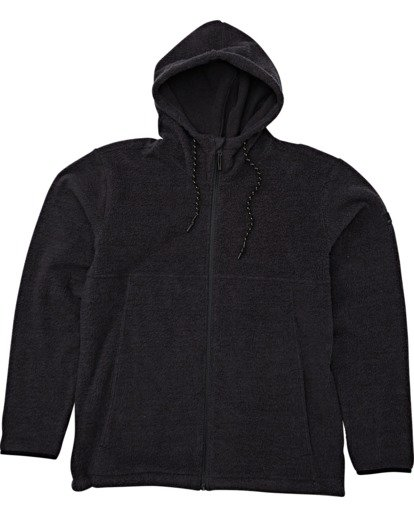 3 Boundary Brushed Zip Hoodie Black M660WBBZ Billabong