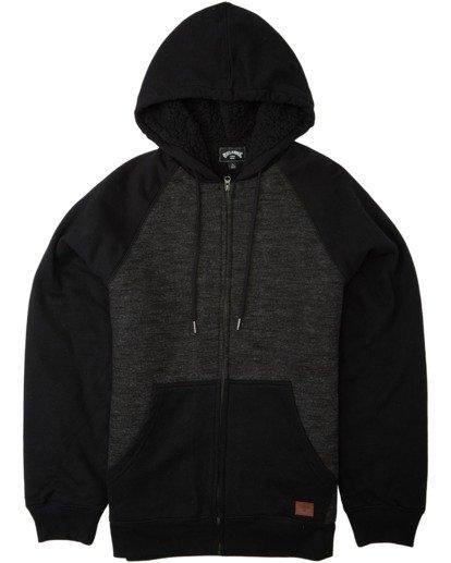 4 Balance Sherpa Zip Hoodie Black M6653BBS Billabong