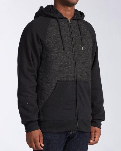 2 Balance Sherpa Zip Hoodie Black M6653BBS Billabong