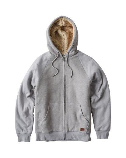 6 Balance Sherpa Zip Hoodie Grey M665VBBS Billabong